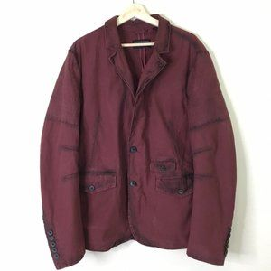 Rogue State Distressed Burgundy Casual Blazer XL